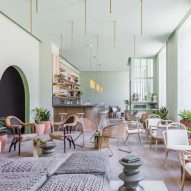 "Grzywinski + Pons creates ""sophisticatedly tropical"" interiors for Edinburgh's Eden Locke hotel"