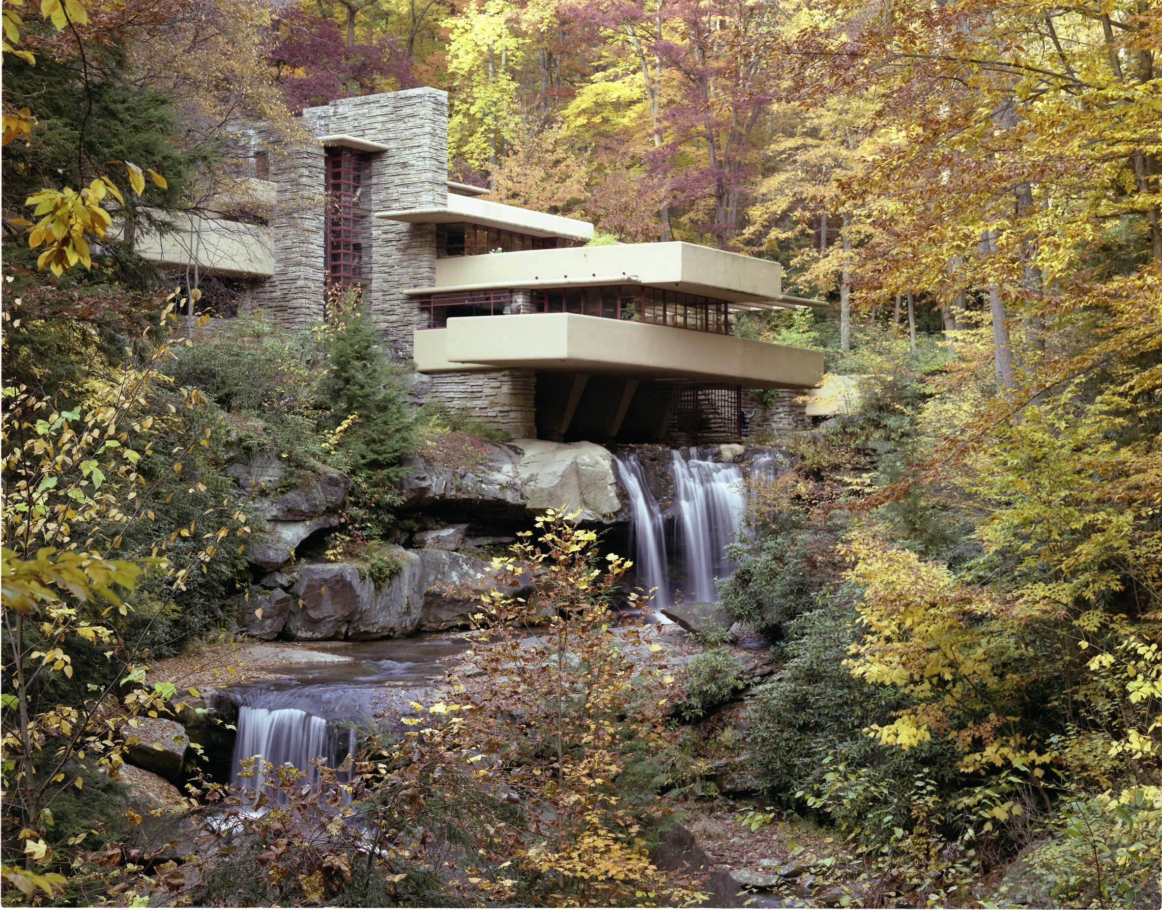 Frank Lloyd Wright integrated architecture into nature at Fallingwater