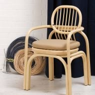 Andrea Mestre questions how office chairs should look and feel with rattan frame