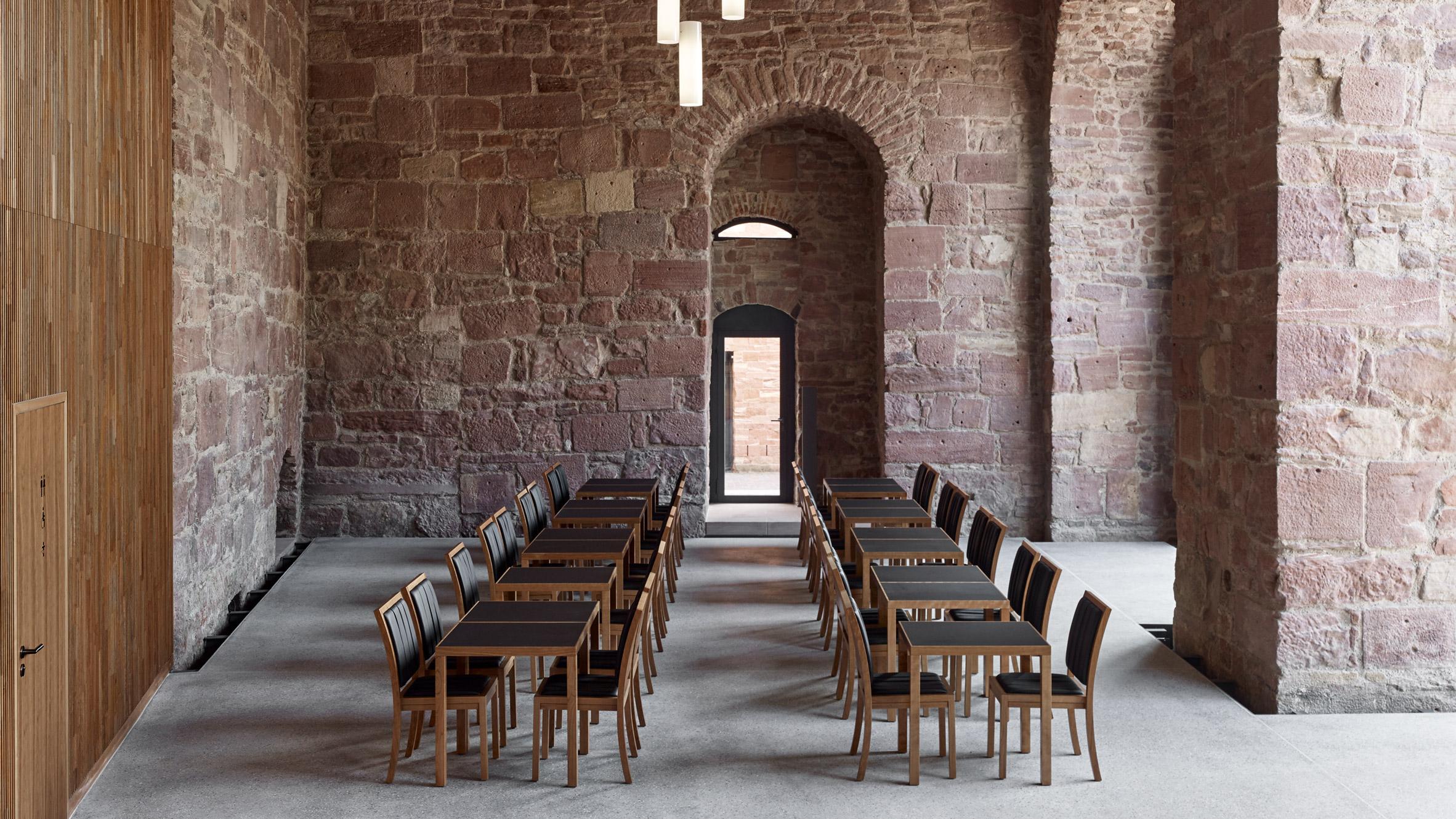max dudler creates restaurant inside heidelberg castles saddle room