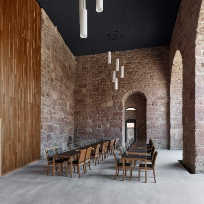 Max Dudler Creates Restaurant Inside Heidelberg Castles Sandstone Walled Saddle Room