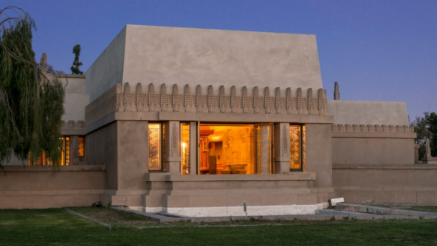 Frank Lloyd Wright's Hollyhock House is an early example of Mayan Revival architecture