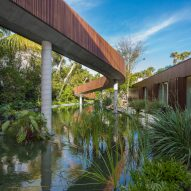 Studio MK27 completes Miami Beach house with its own private lagoon