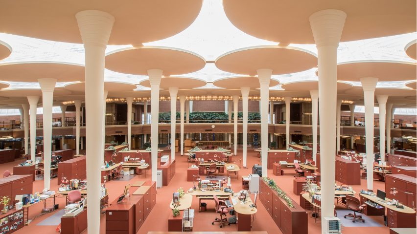Johnson Wax by Frank Lloyd Wright