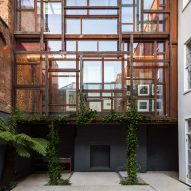 Gianni Botsford Architects' Corten steel extension hosts private art collection in central London