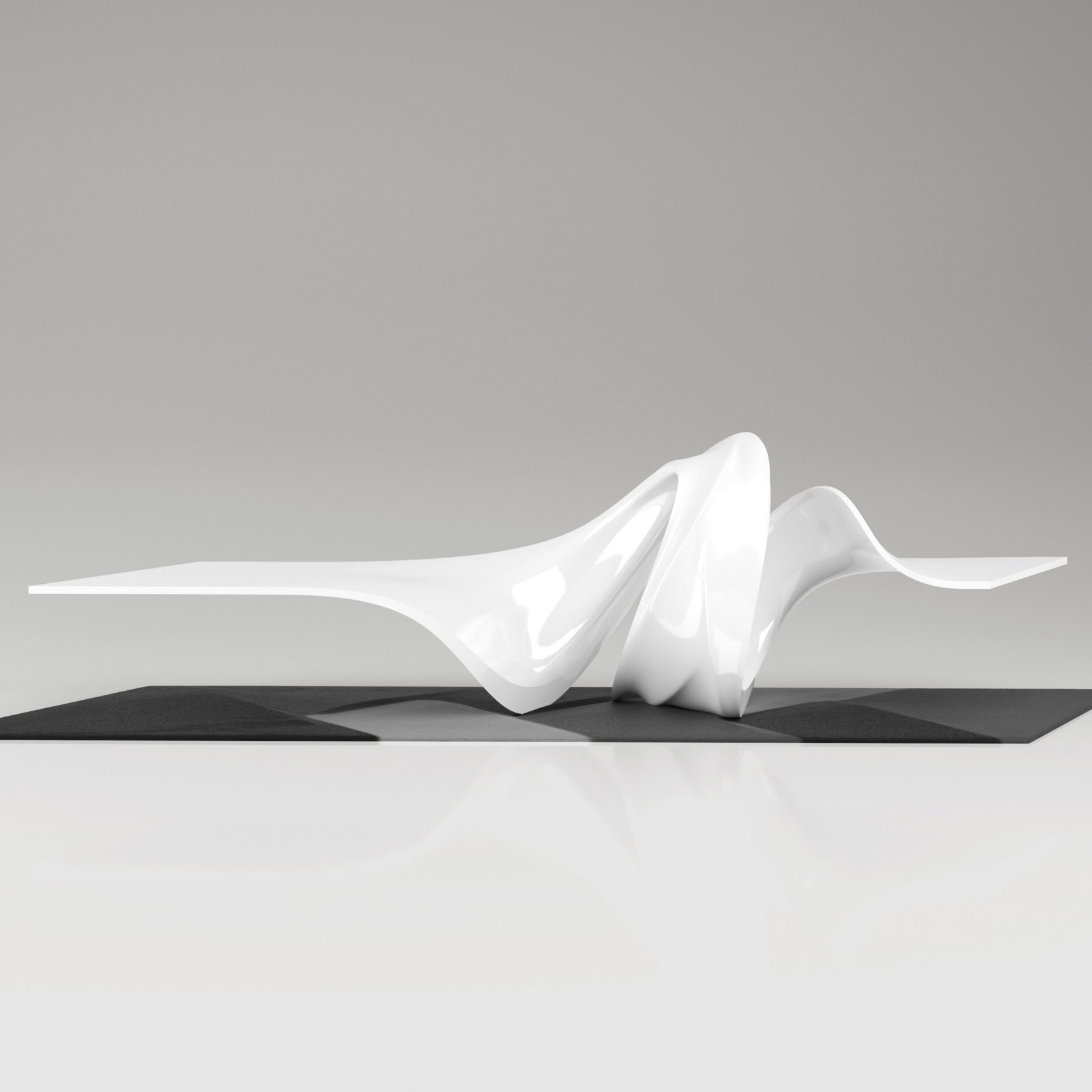 Le-a coffee table by Leblon Delienne x Zaha Hadid