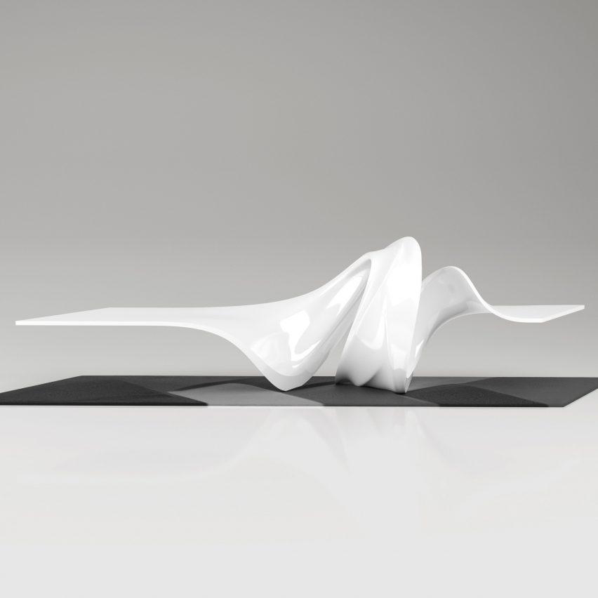 Le-a coffee table by Leblon Delienne x Zaha Hadid