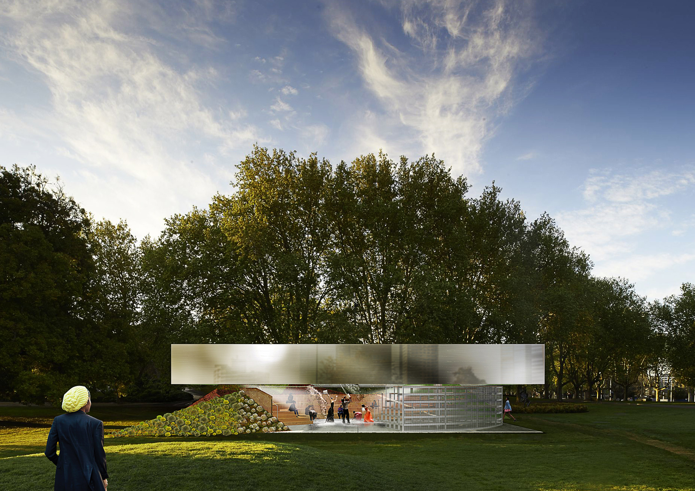 OMA designs adaptable amphitheatre for fourth MPavilion in Melbourne