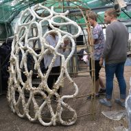 "Structure grown from ""mushroom sausages"" shows potential for zero-waste architecture"