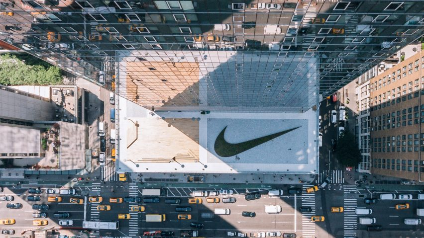 Nike unveils New York headquarters topped giant planted swoosh