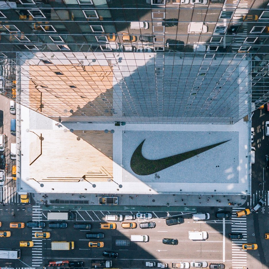 ético misil cáscara  Nike unveils New York headquarters topped giant planted swoosh