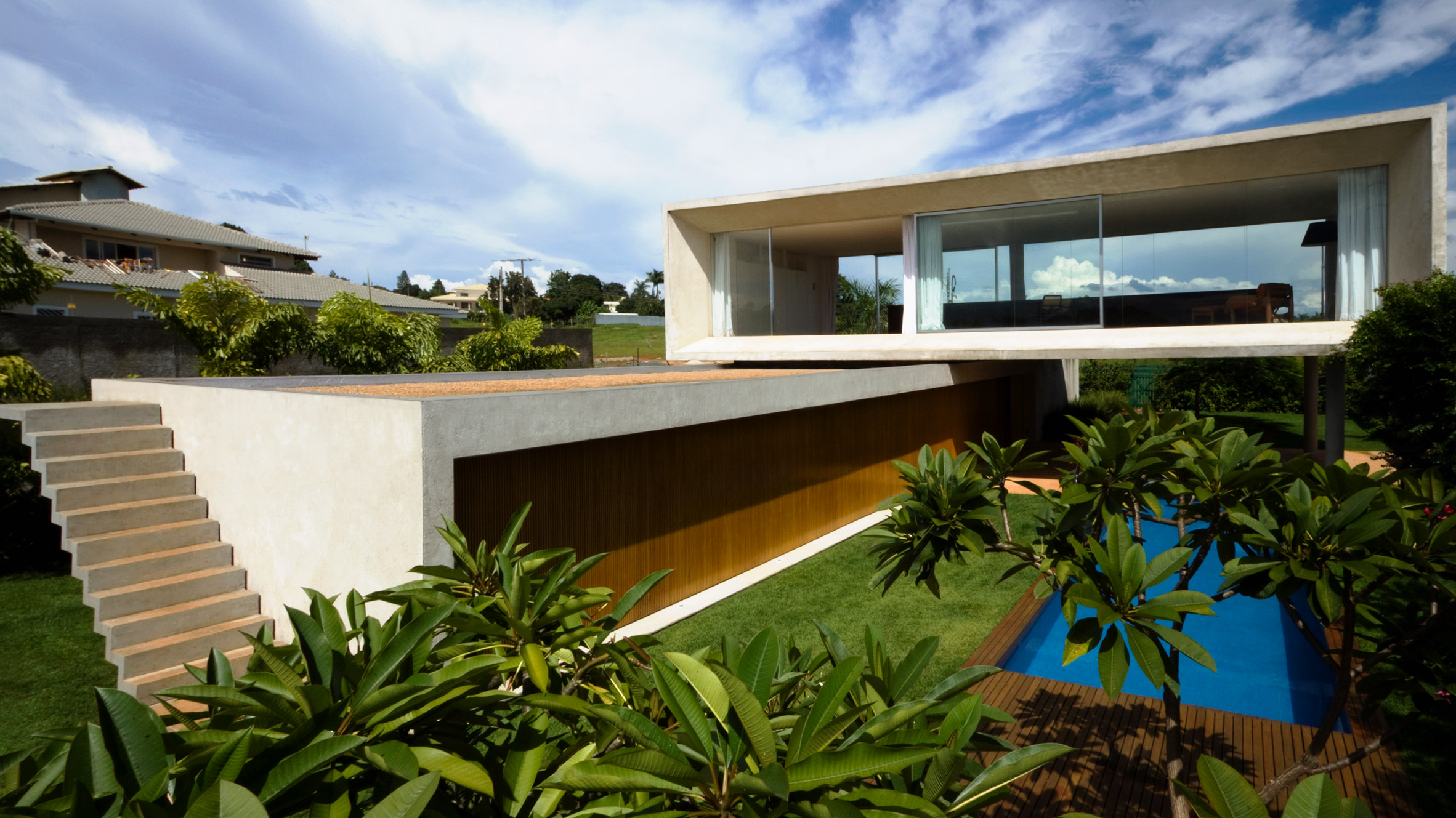 Open layout house concept by studio mk27 - Studio Mk27 Takes Cues From Brazilian Modernism For Osler House In Bras Lia