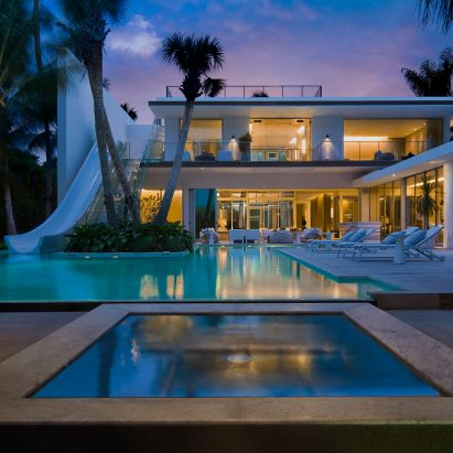 Gentil House With Indoor Pool With Slide. Miami Beach Residence By Saota Takes  Indoor Outdoor