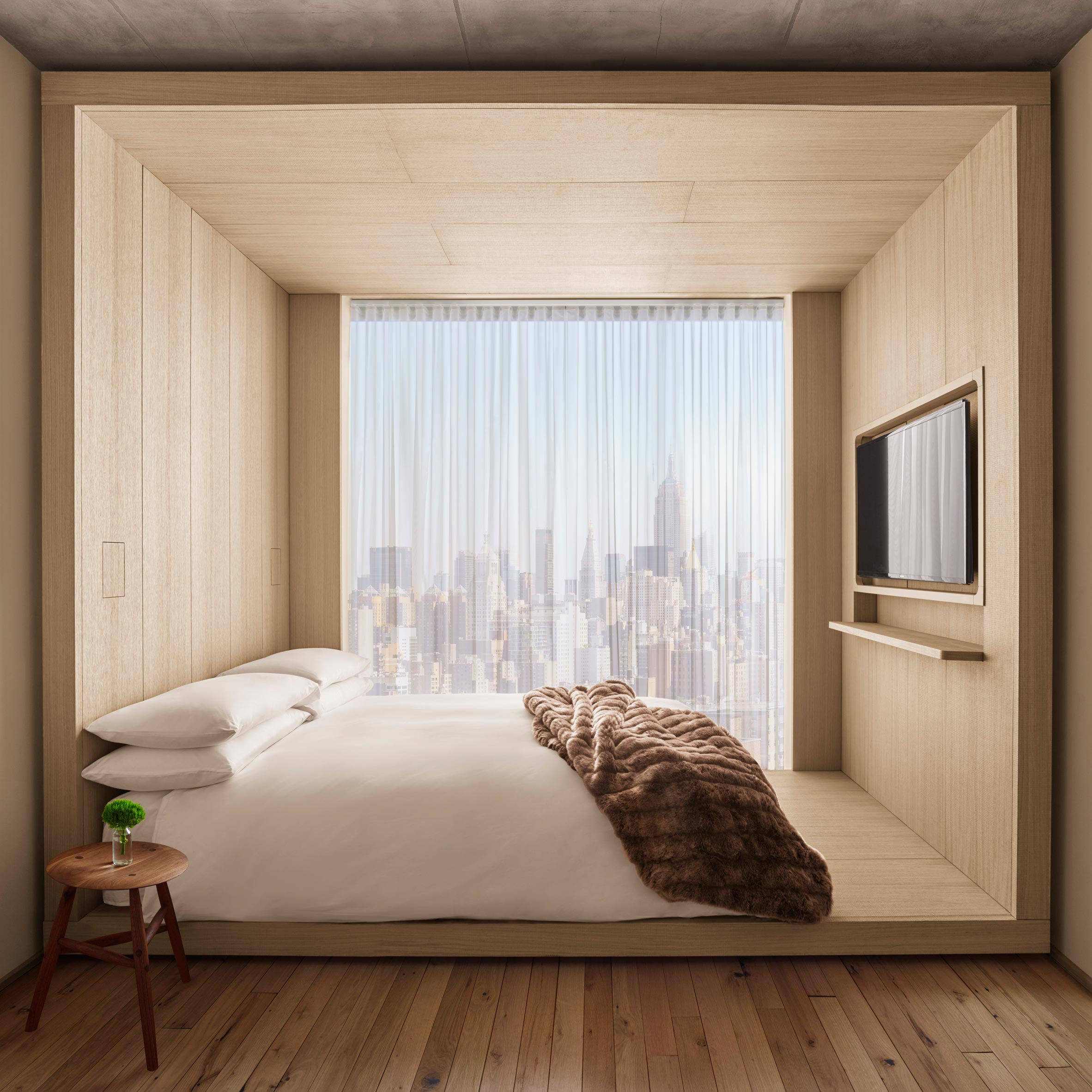 "Bold Video 2017 Hotel public hotel by herzog & de meuron has bedrooms ""like cabins"