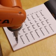 Robot ordered to write lines as punishment for crime it hasn't committed yet