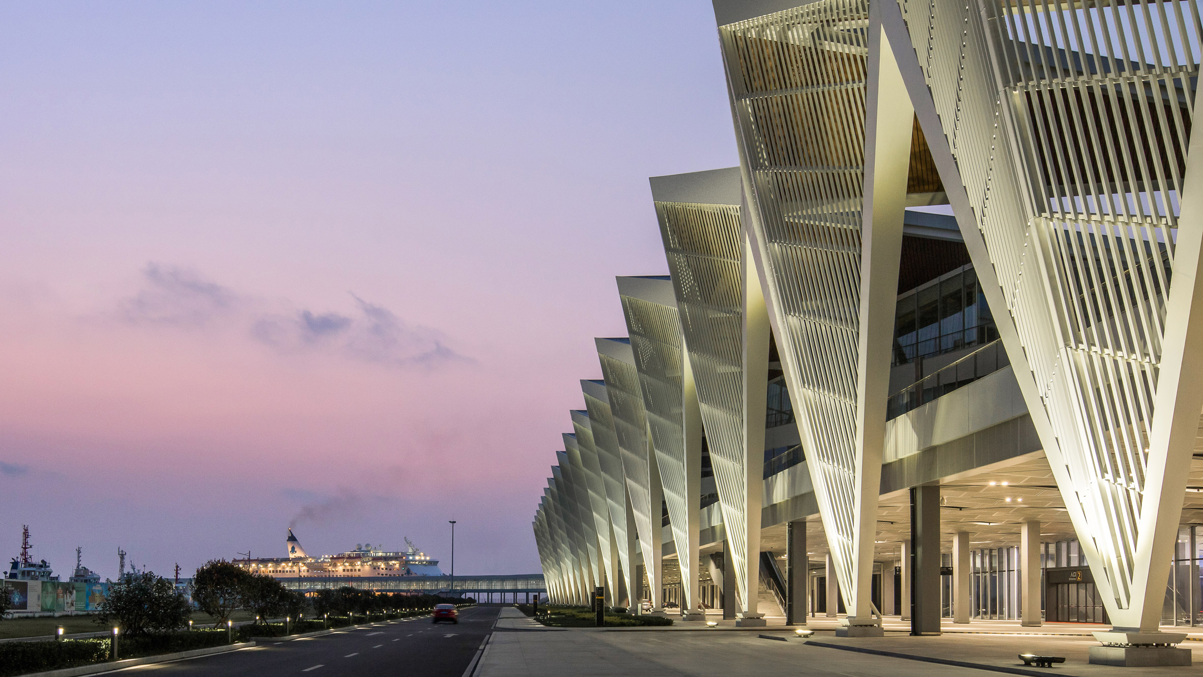 Qingdao cruise terminal 39 s angular facade references boats for Angular 1 architecture