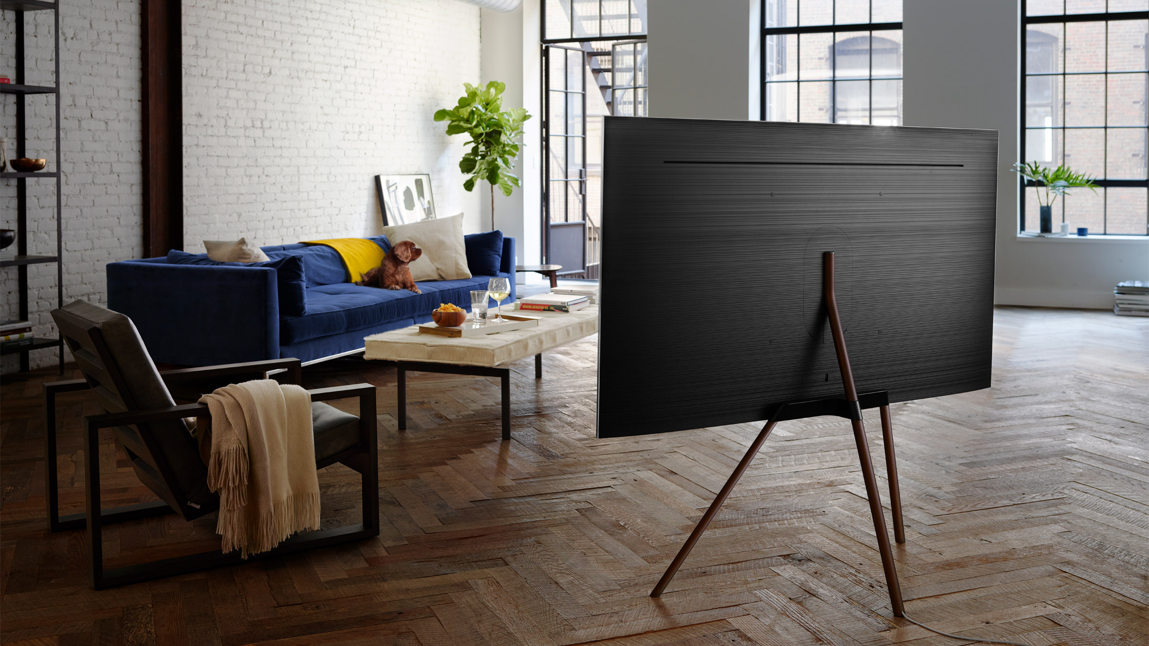samsung tv on stand. dezeen and samsung to launch \u20ac30,000 competition rethink the tv stand tv on n