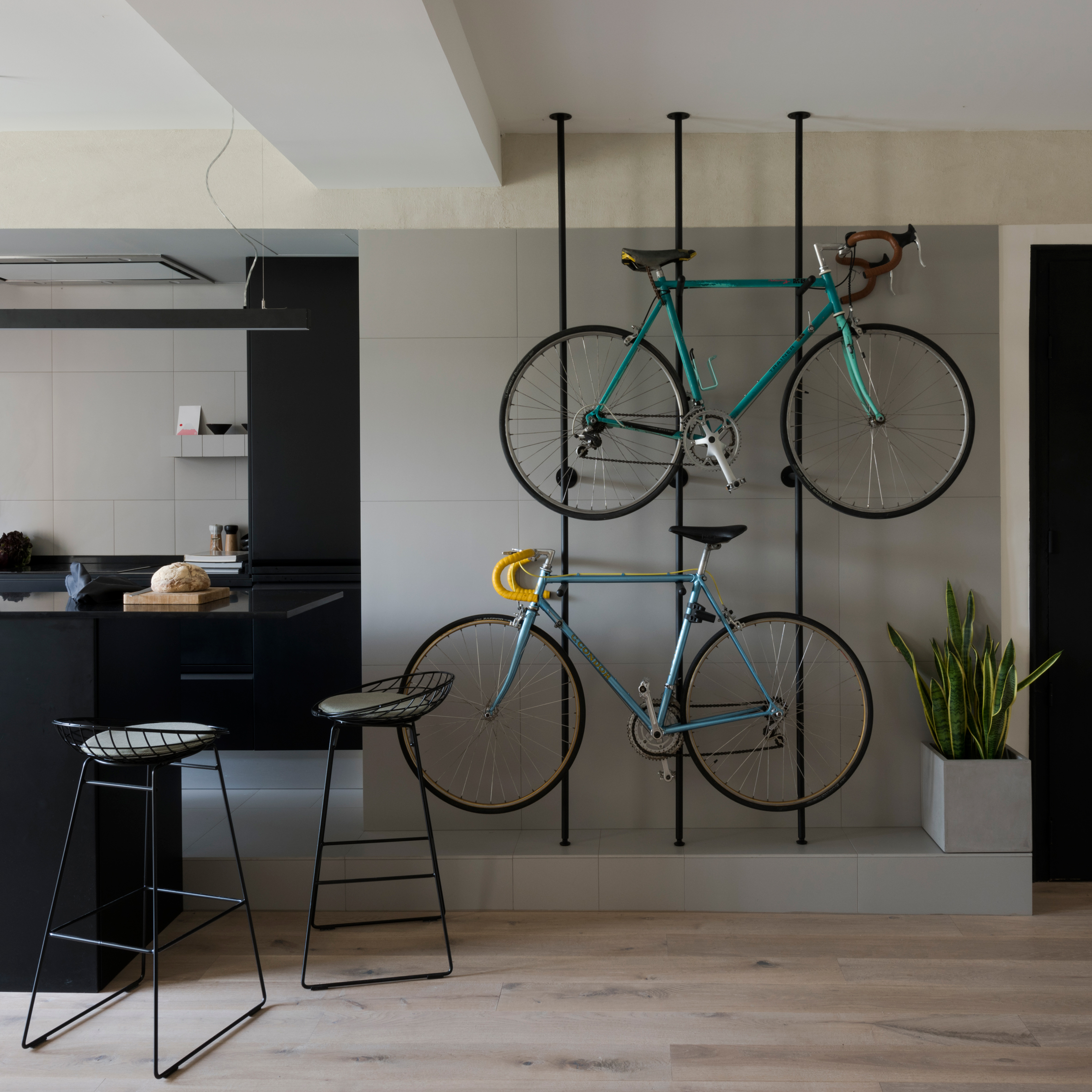 Bespoke Storage Creates Room For Bicycles In Renovated Barcelona Flat