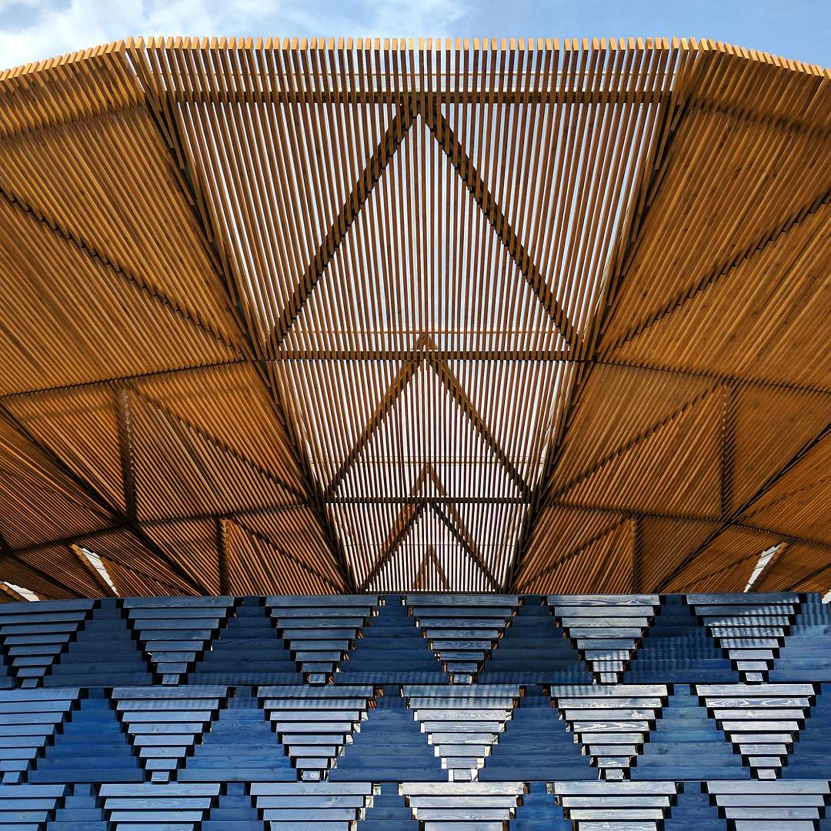 Drone footage captures Diébédo Francis Kéré's Serpentine Pavilion 2017