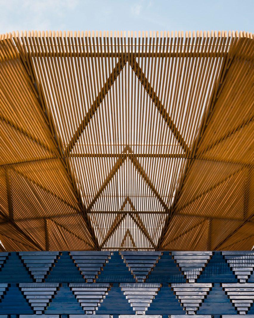 Diébédo Francis Kéré's Serpentine Pavilion photographed by Jim Stephenson