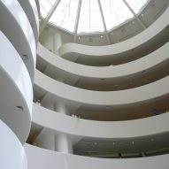 Guggenheim Museum interior by Frank Lloyd Wright