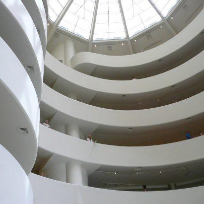 Guggenheim Museum interior by Frank Lloyd Wright