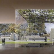 Steven Holl's curvy-roofed addition to Houston arts museum breaks ground