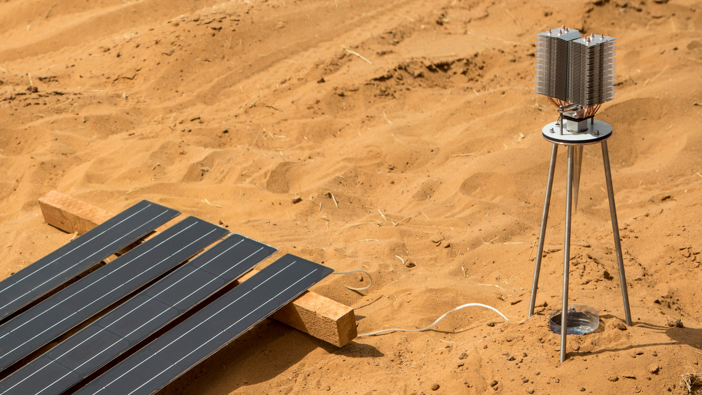 Sunglacier harnesses solar power to harvest water in the Sahara Desert