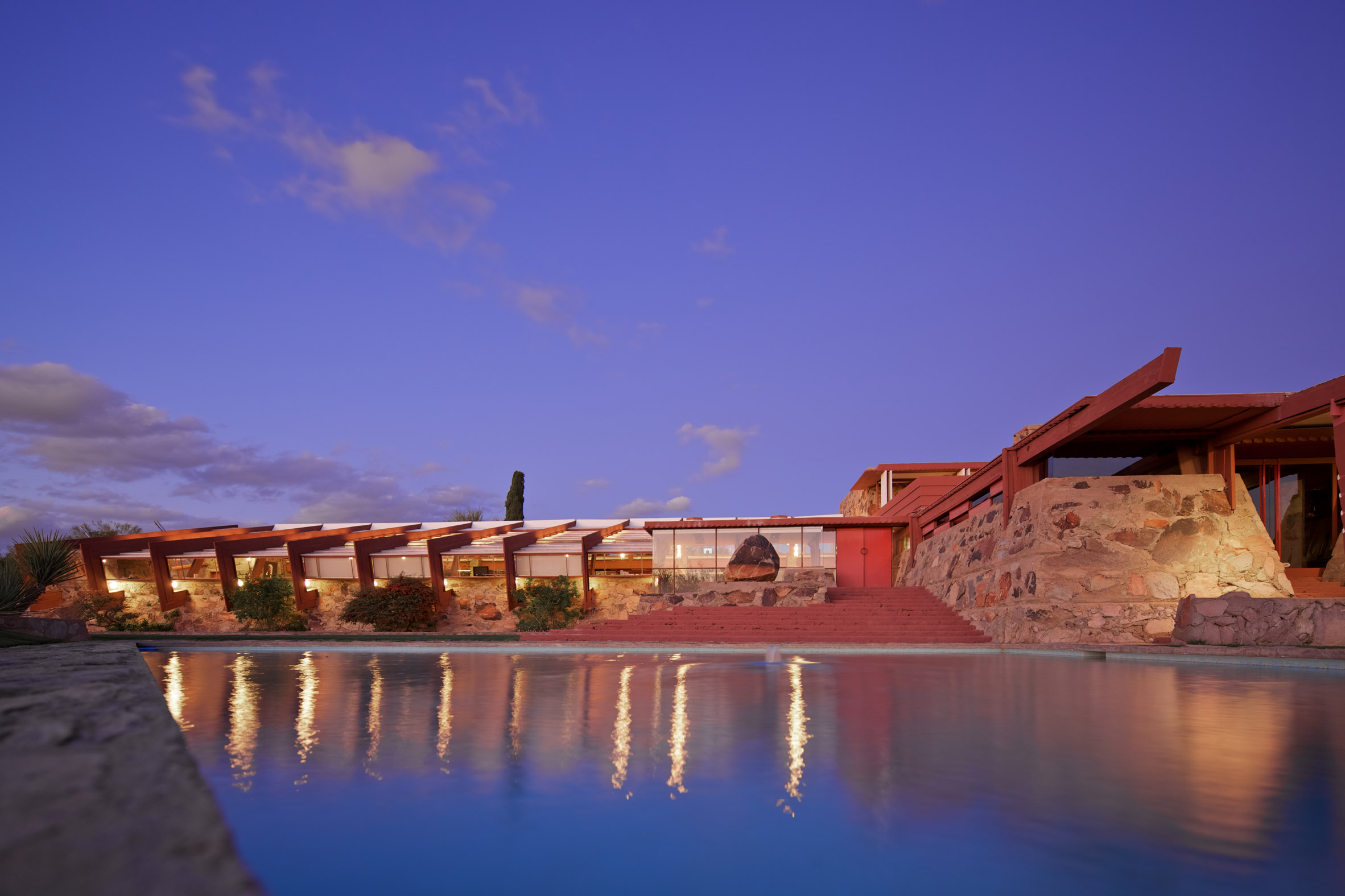 Frank Lloyd Wright's Taliesin West was designed as a desert retreat for himself and his students