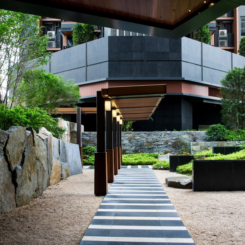 The Pavilia Hill Premium Condominium Landscape by Shunmyo Masuno. Platinum A' Design Award Winner for Landscape Planning and Garden Design Category