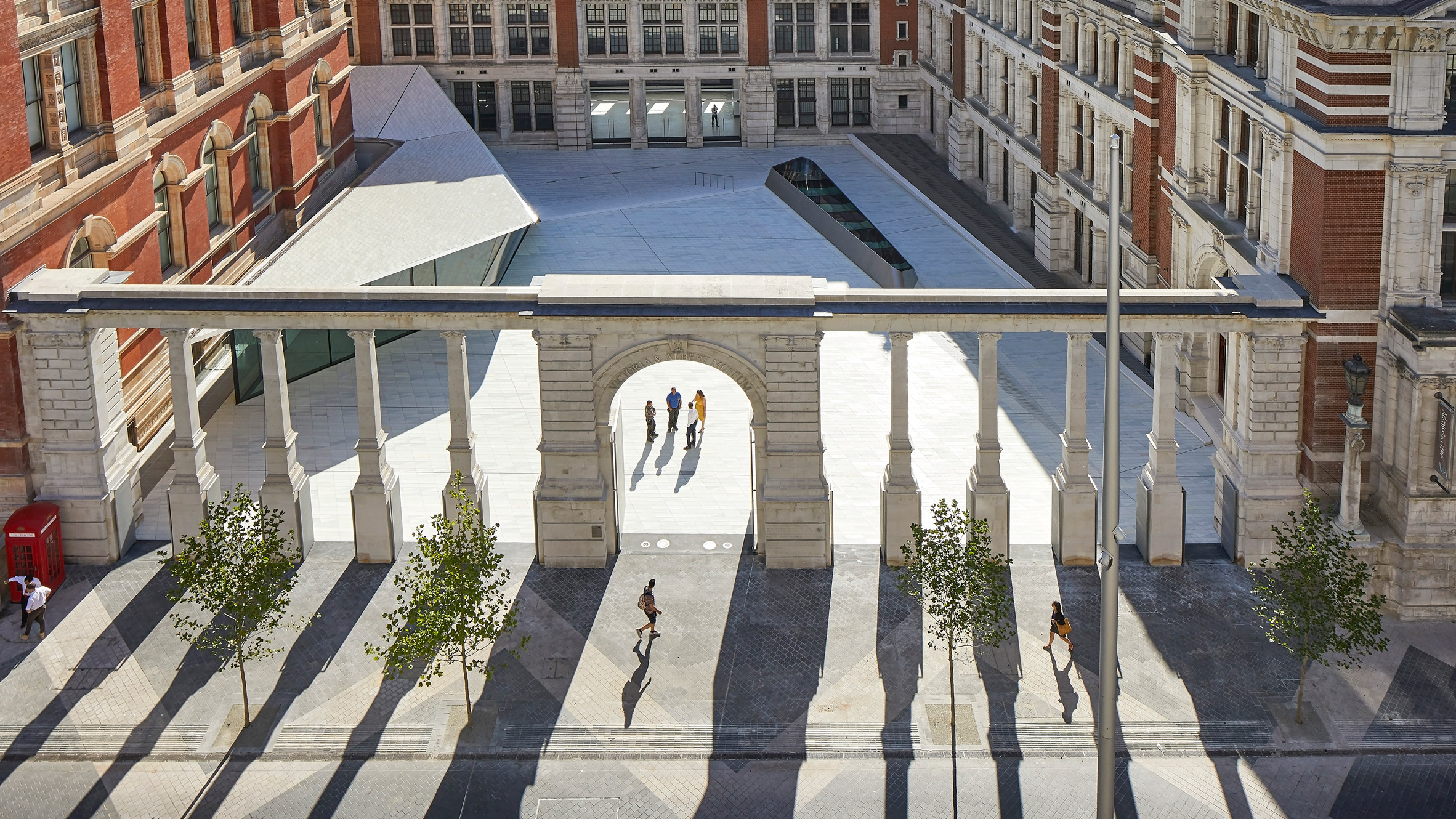 AL_A completes tile-covered entrance and subterranean gallery for London's V&A museum