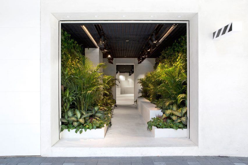 Off-white store in Hong Kong by Family New York