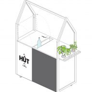 HÛT architects design and build mobile gin trolley as the new office accessory