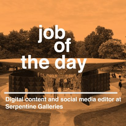 Job of the day: digital content and social media editor at Serpentine Galleries