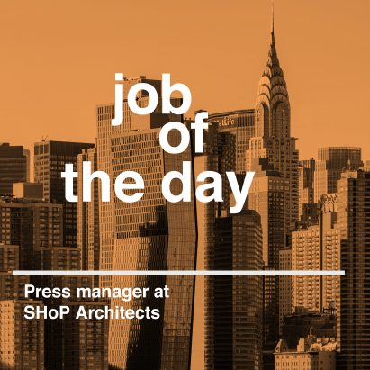 Job of the day: press manager at SHoP Architects