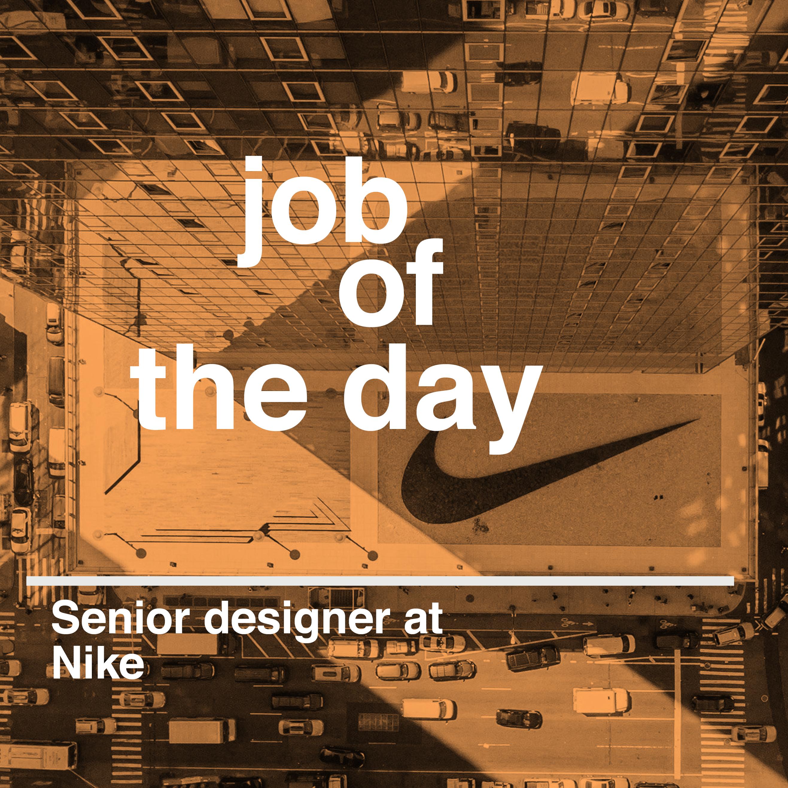 Poster design jobs london - Job Of The Day Senior Designer At Nike