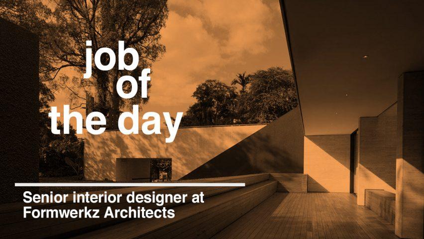 Job Of The Day Senior Interior Designer At Formwerkz Architects