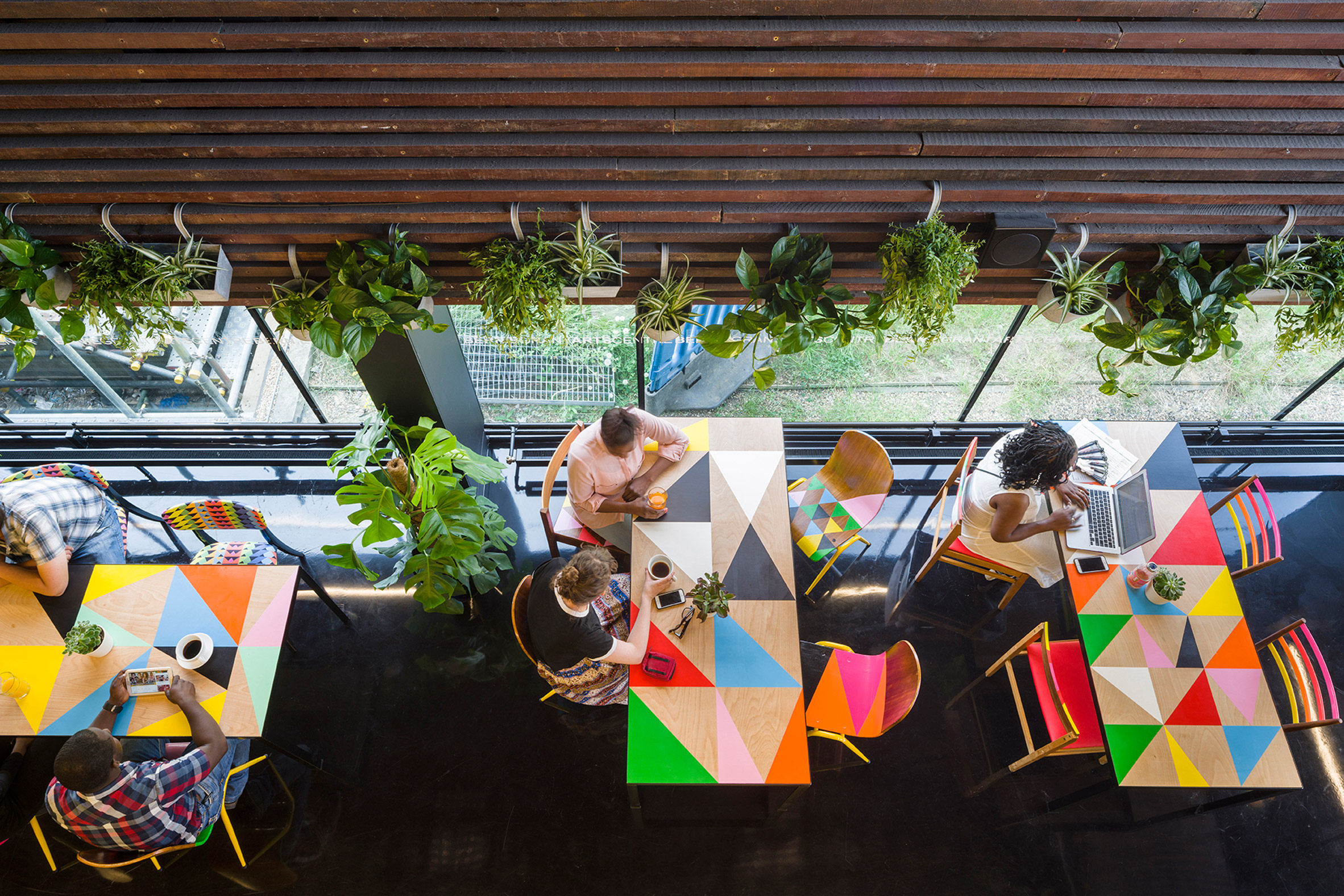 Designer, Morag Myerscough, redesigns the Bernie Grant Arts Centre in London