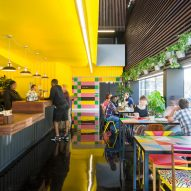 Designer, Morag Myerscough, redesigns the Bernie Grant Arts Centre in London