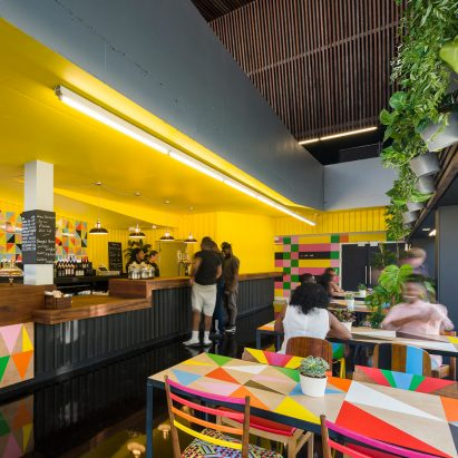 Morag Myerscough creates colourful interiors for Adjaye-designed arts centre