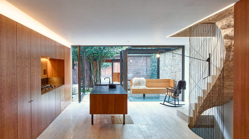 Caroline Place terrace, Kensington, London, by Amin Taha Architects + Group Work