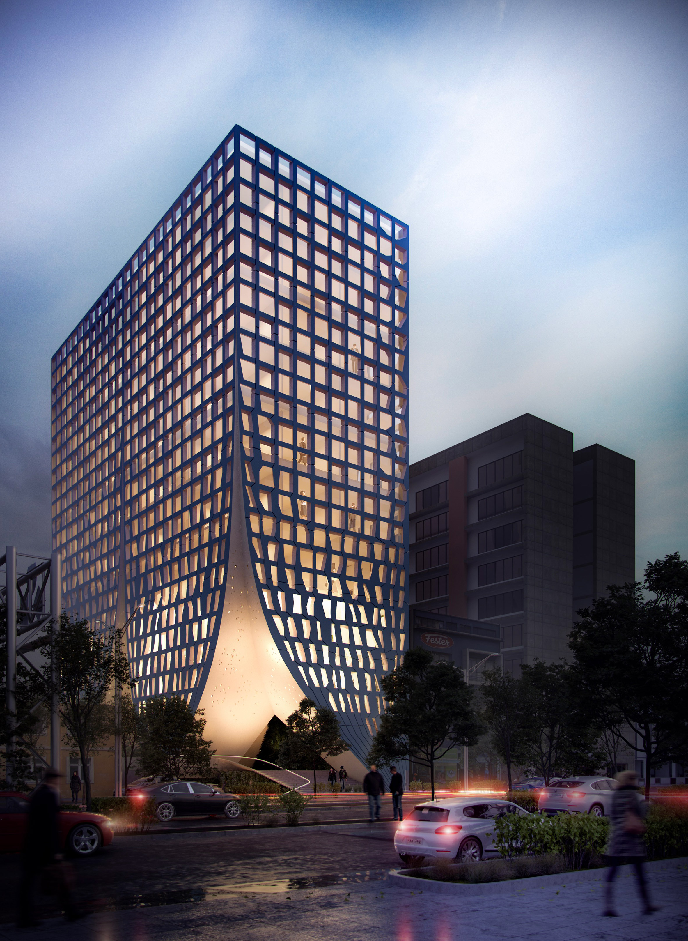 Chapultepec 500 office block, Mexico, by MAPmx studio