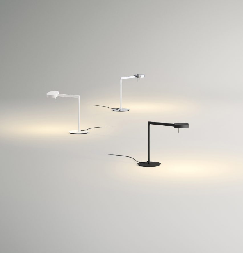 Simple The second winner will receive a LED version of the same lamp which features a flat head that functions as a metal diffuser and has an integrated switch