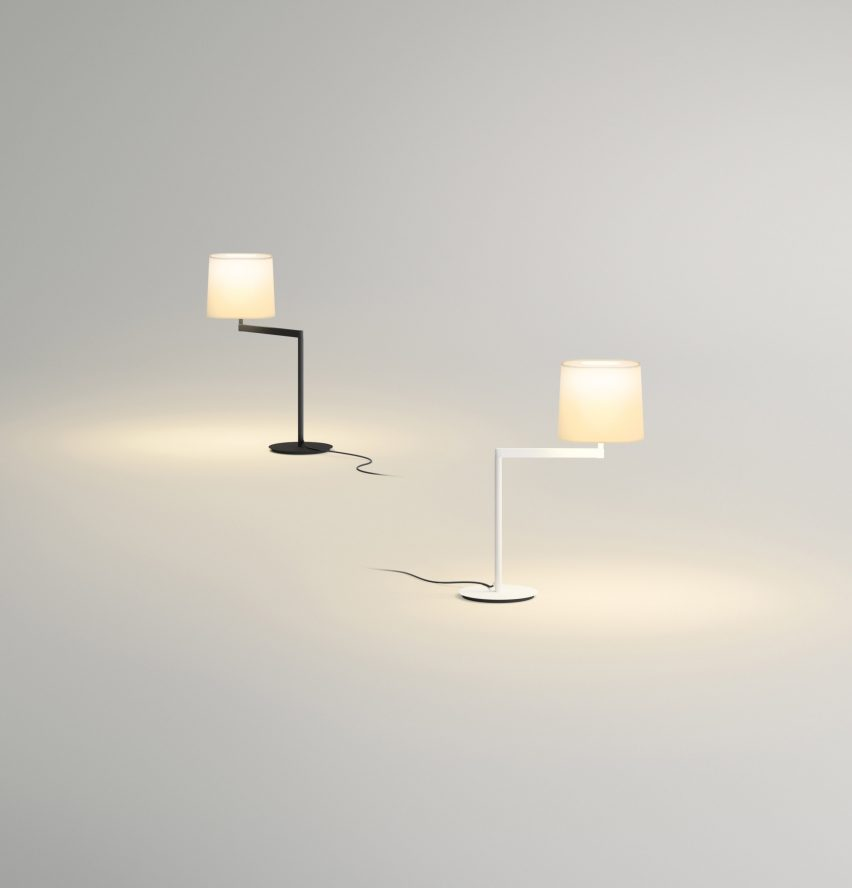 Designed by spanish studio lievore altherr molina the steel swing lamp is intended to be used in any room in the house