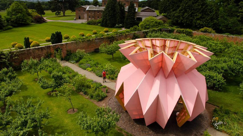 Studio Morison Installs Origami Like Pineapple In 18th Century Garden