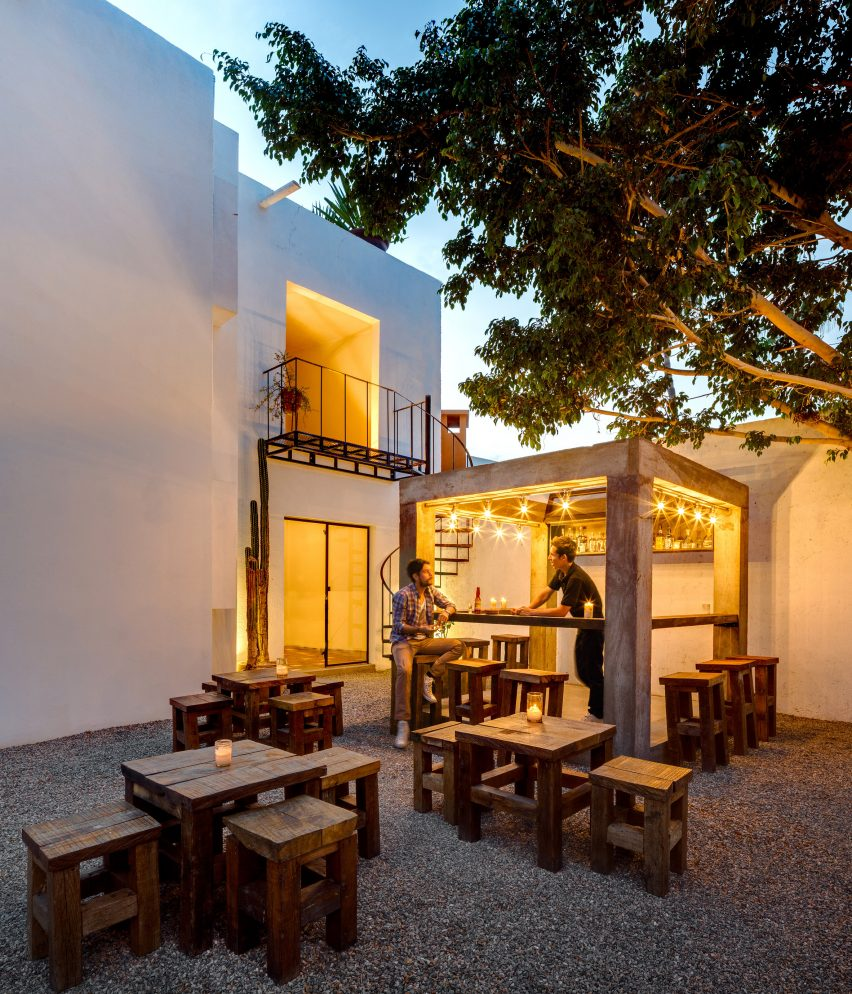 boutique hotel in cabo offers design store food carts and mezcal