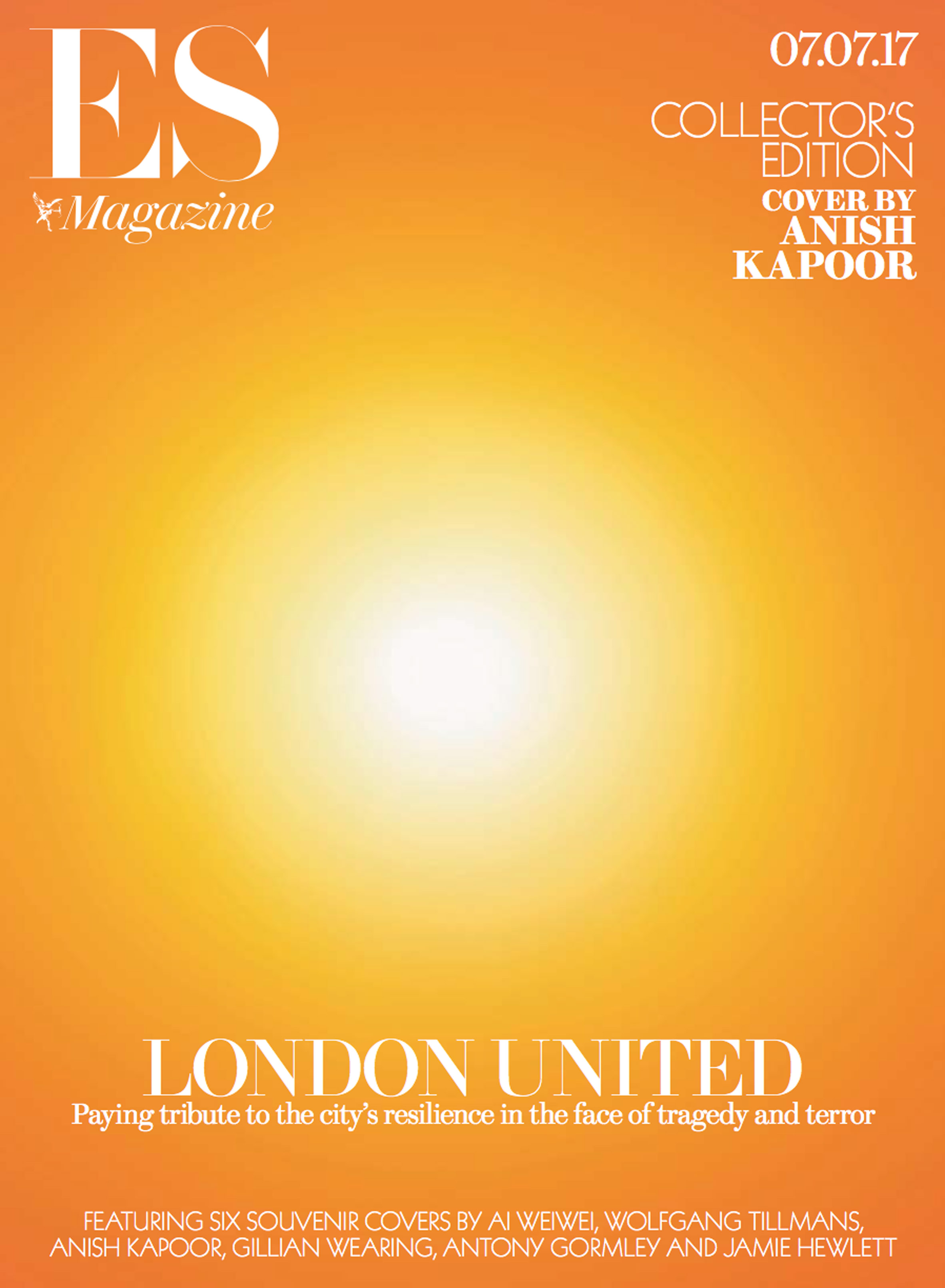 Artists including Anish Kapoor and Ai Weiwei create magazine covers dedicated to recent London tragedies