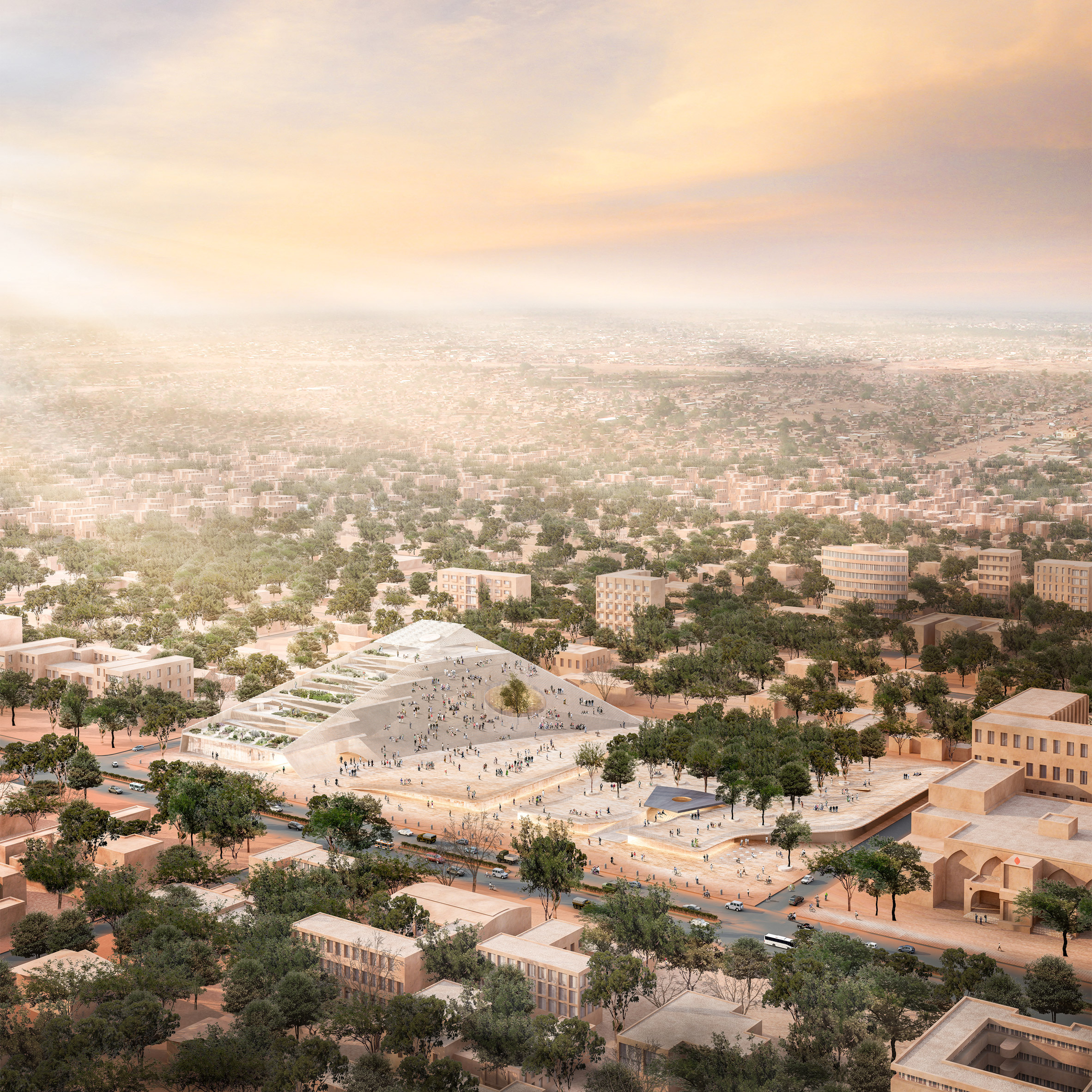 "New Burkina Faso parliament building ""responds to needs of the people"" says Diébédo Francis Kéré"