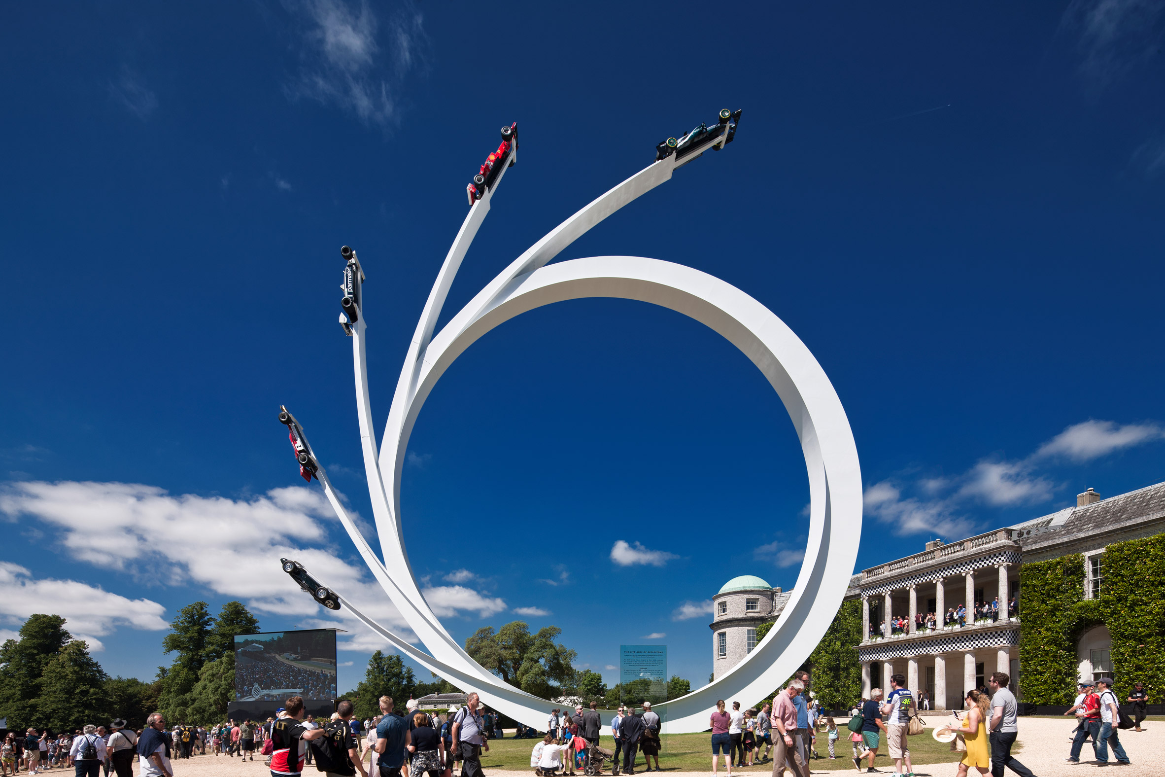 Gerry Judah's latest towering Goodwood sculpture pays homage to Bernie Ecclestone