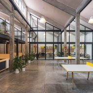 Estudio Atemporal converts old factory in Mexico City into co-working offices